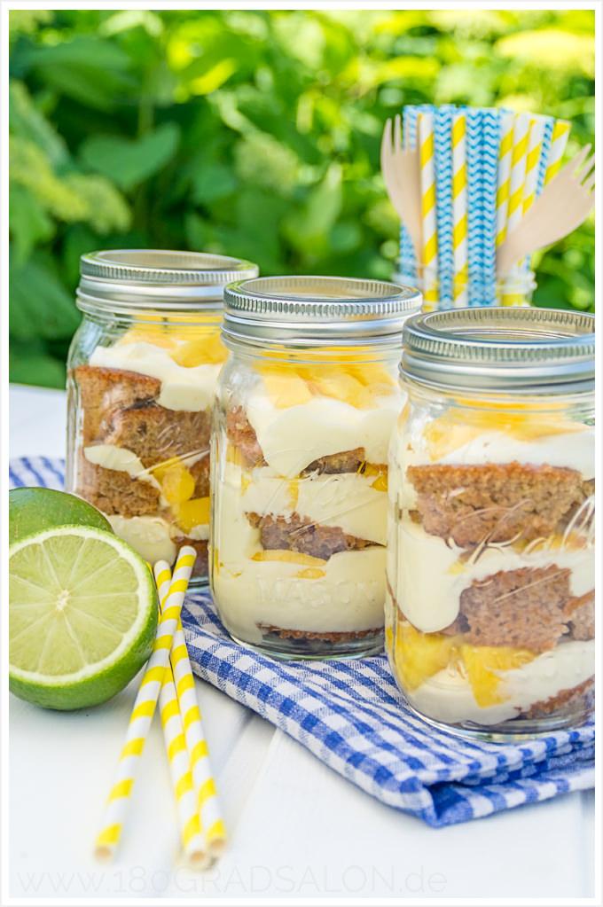 Rezept für einen weltmeisterlichen brasilianischen Caipirinha Cheesecake im Glas