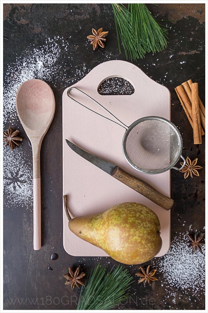 Rezept für Glühwein Birne Dessert Weihnachten 180gradsalon