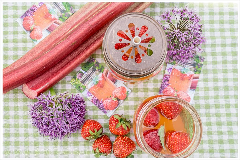 Rhabarber – Erdbeer - Bowle Moo Visitenkarten Luxe Version Printfinity-Technologie 180gradsalon