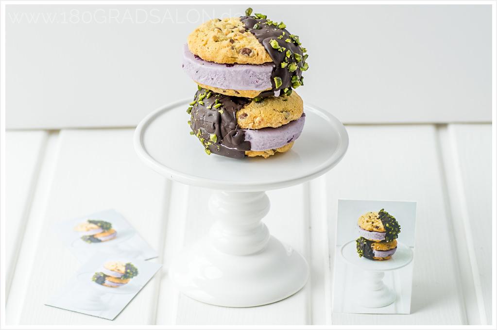 Blaubeer Eis Sandwich Moo Visitenkarten Luxe Version Printfinity-Technologie 180gradsalon