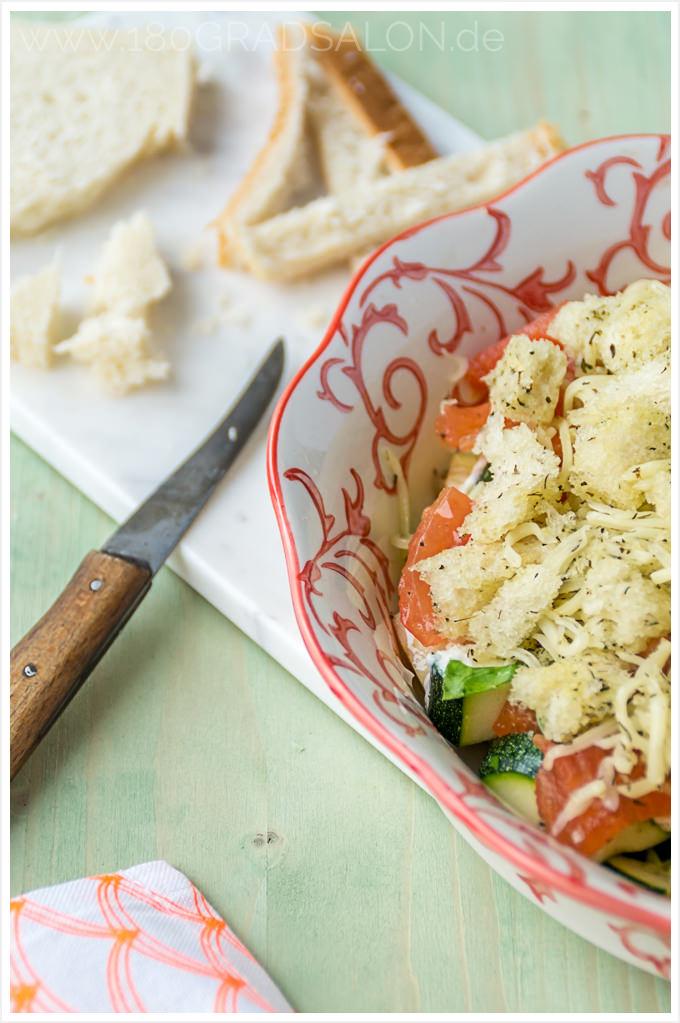 Tomaten Zucchini Auflauf - Sommerküche