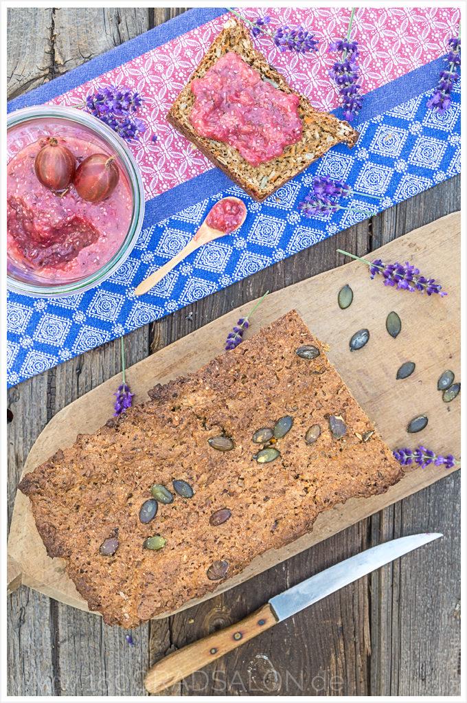 Rezept Roggen Dinkel-Brot mit Chia-Samen 180gradsalon Chia Marmelade