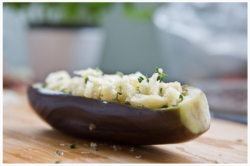 gefüllte Aubergine mit Honig-Kirschtomaten und Basilikum Mandel-Pesto zur IKEA Aktion #IKEASommerimGlas 180gradsalon
