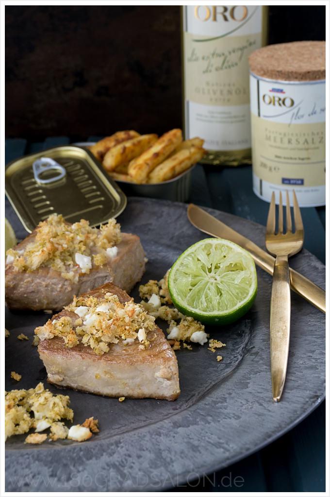 Rezept für Thunfischfilet mit Limetten und Feta - Mein bofrost* Jubiläumsmenü zu 50 Jahren bofrost 180gradsalon