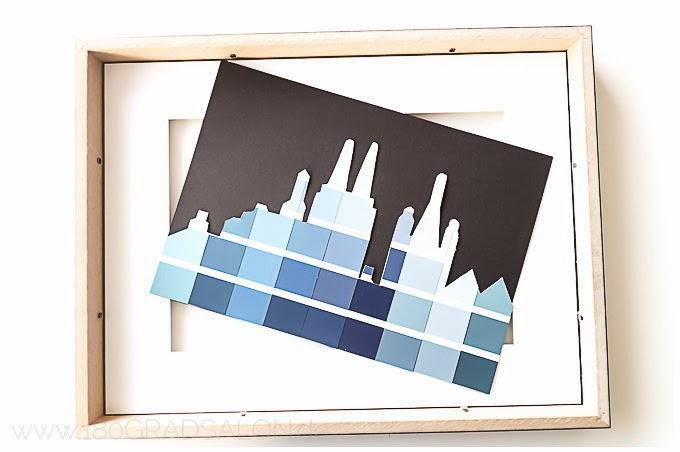 Skyline Köln Hamburg DIY Rahmen
