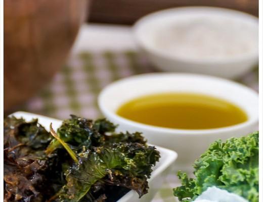Rezept für Grünkohl Chips Kale Chips
