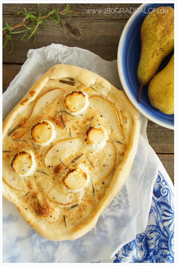 Rezept Flammkuchen mit Birne und Ziegenkäse