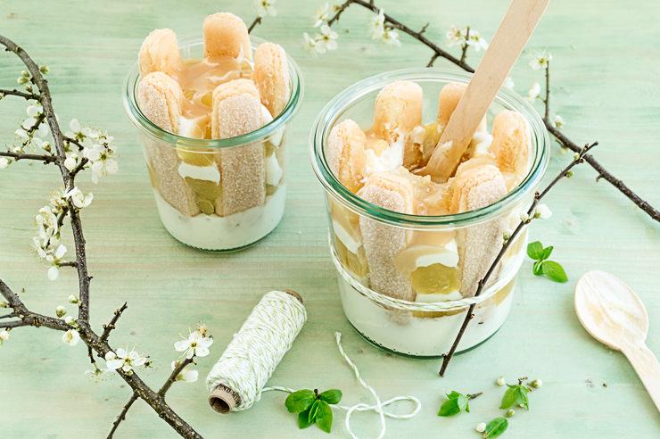 Rezept Apfel Charlotte mit Karamell Sahne Soße
