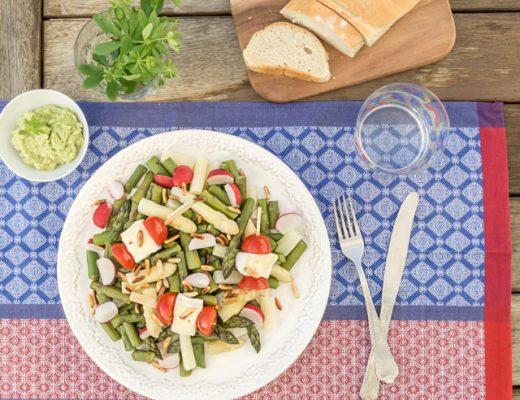 Rezept Spargel Salat mit Waldmeister Creme