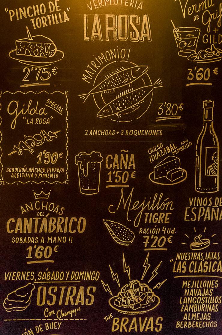 La Rosa Vermuteria Tapas Bar und Vermut Wermut in Palma de Mallorca