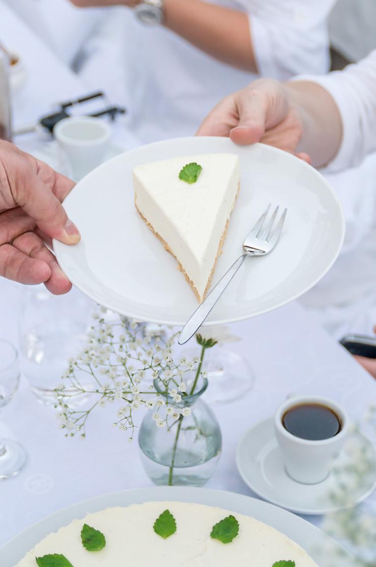 Diner en blanc in Bocholt White Dinner Rezept Dessert