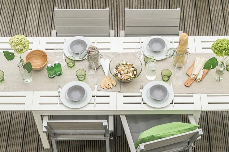 Gartenparty Im Sommer Mit Neuen Gartenm Beln Und Tischdeko