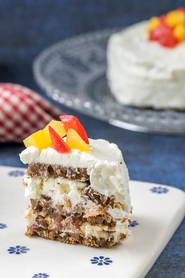 Rezept Schwarzbrot Torte mit Eierlikör