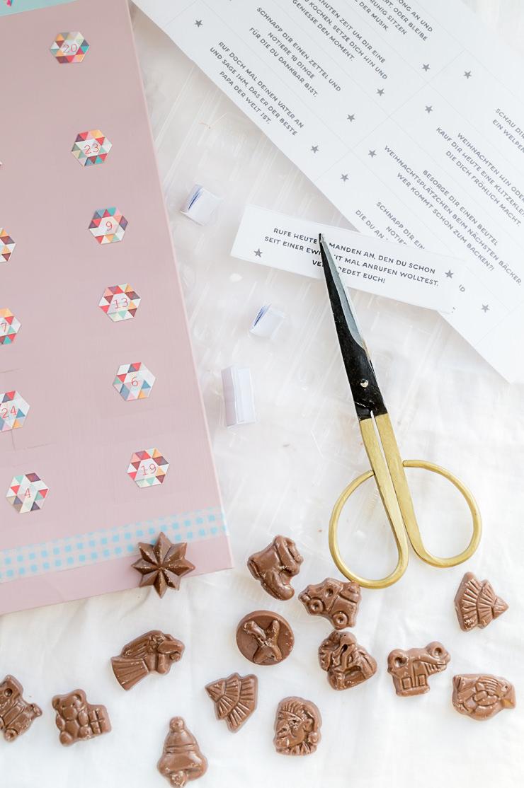 Adventskalender Countdownkalender Geburtstag DIY Einfach Schnell Erwachsene Achtsamkeit