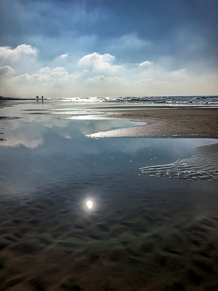 Egmond aan zee Nordsee Herbst Strand Hotel Golfzang