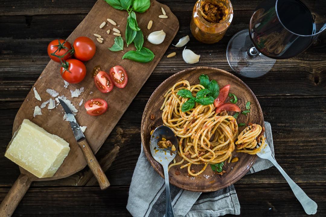 Vapiano Pasta Pesto Rosso Rezept Tomaten Rotwein
