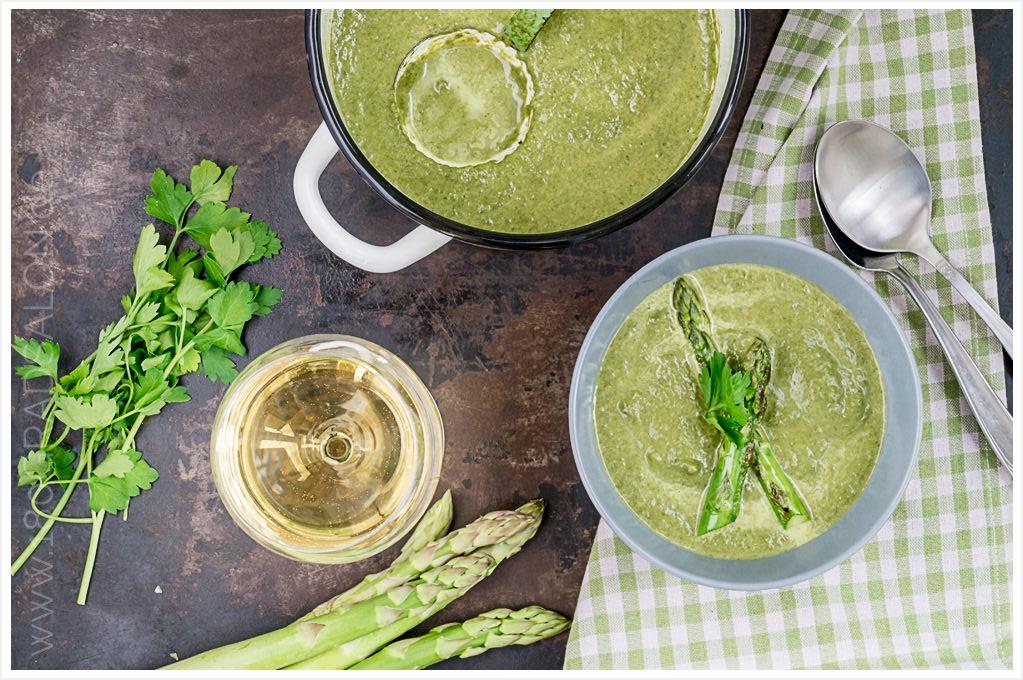 Kohlrabi spinat suppe mit grünem spargel inkl thermomix