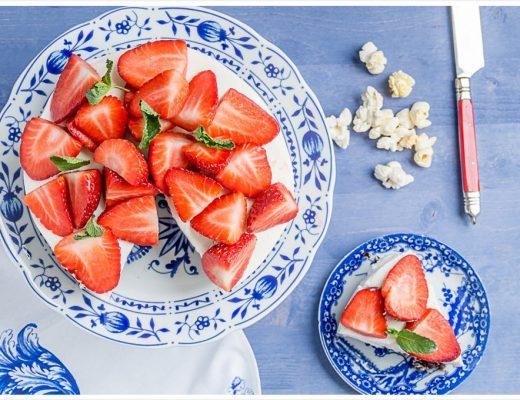 Popcorn Torten Zitronencreme Erdbeeren Rezept 180gradsalon