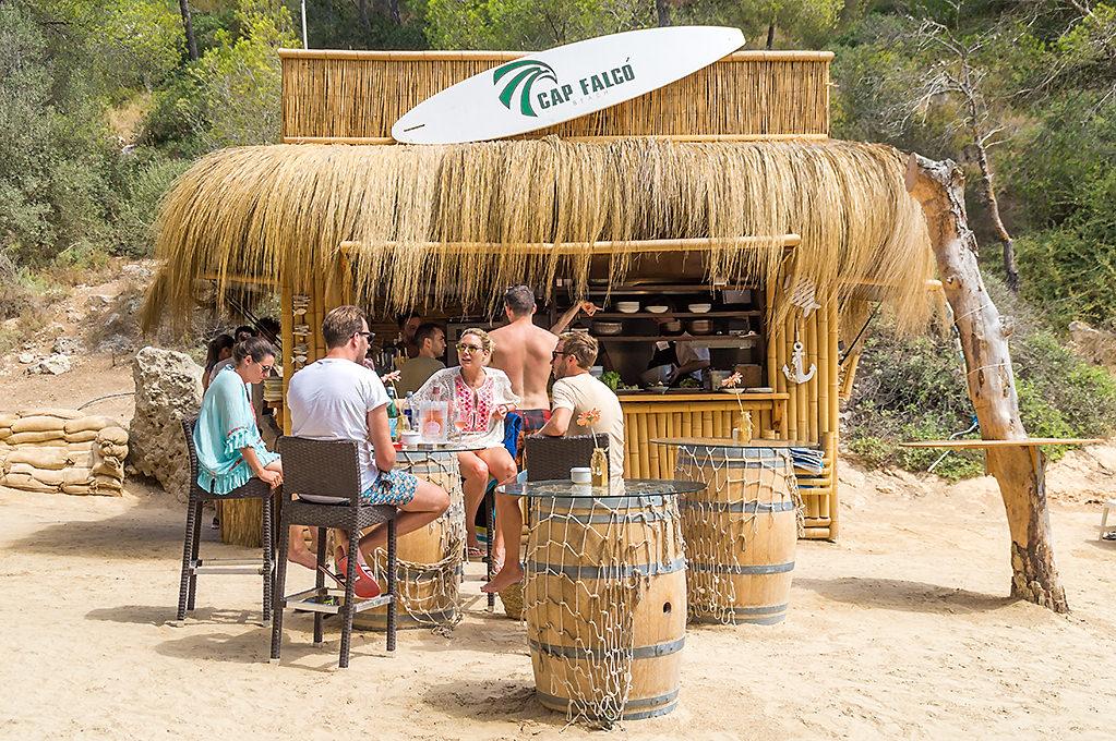 Mallorca Strandtipp - Cala Cap Falcó mit Strandbar Cap Falcó Beach