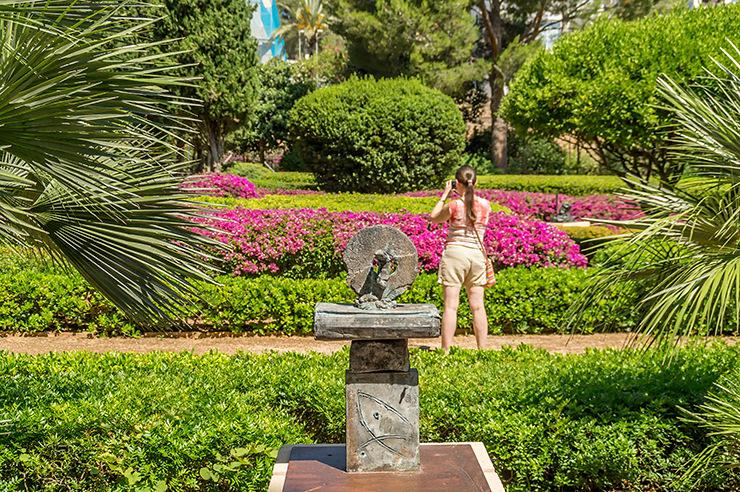 Mallorca Marivent Gärten in Cala Major Kunst Kultur Pflanzen im königlicher Palast Joan Miro Adresse, Öffnungszeiten