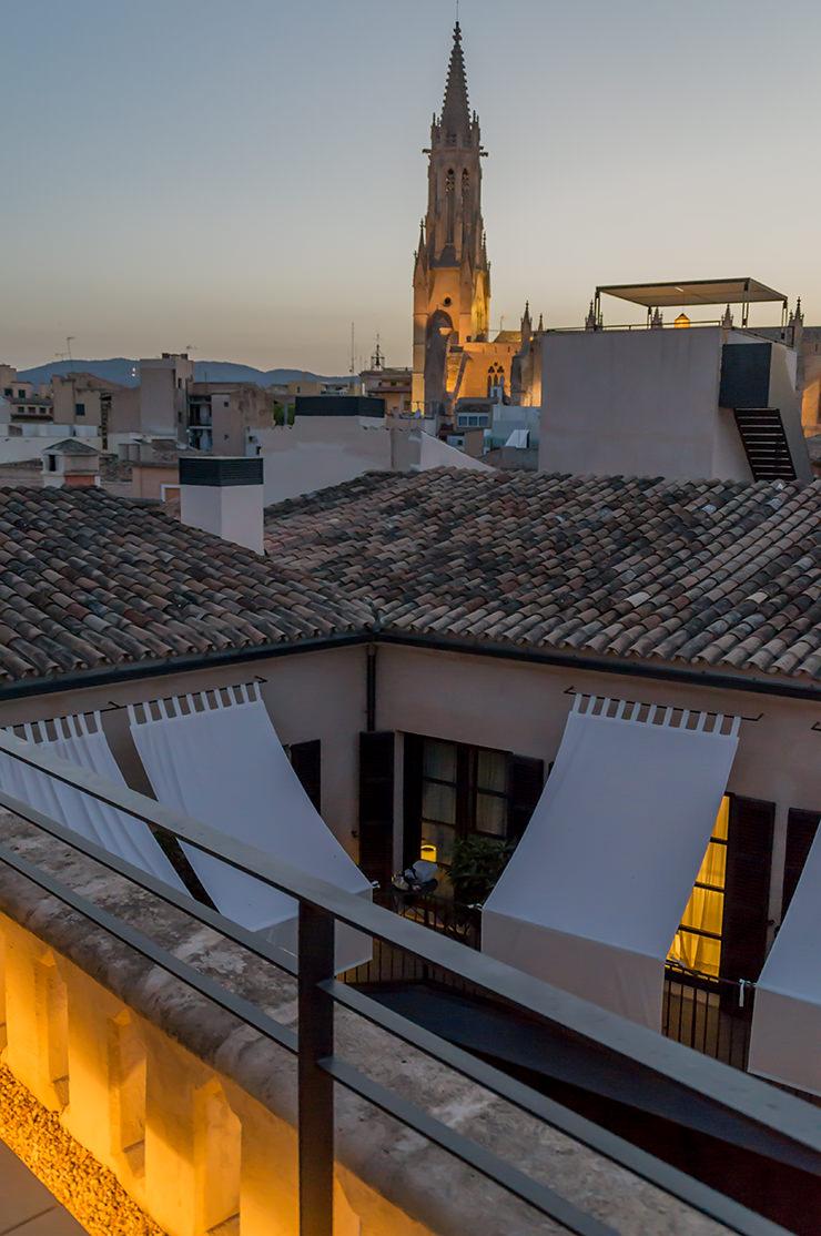 Co Ca Toneta Mallorca Restaurant in Palma de Mallorca auf der Dachterrasse des Hotel Sant Francesc