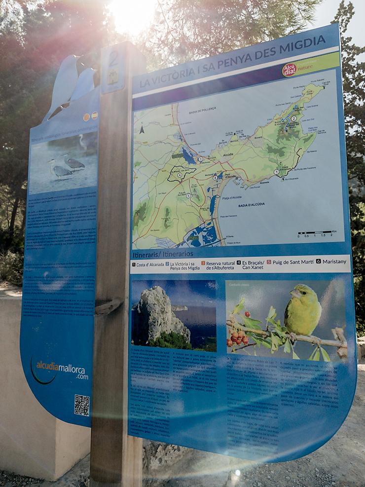 Wandern Mallorca Ermita de la Victoria zur Penya des Migdia Wanderung im Norden